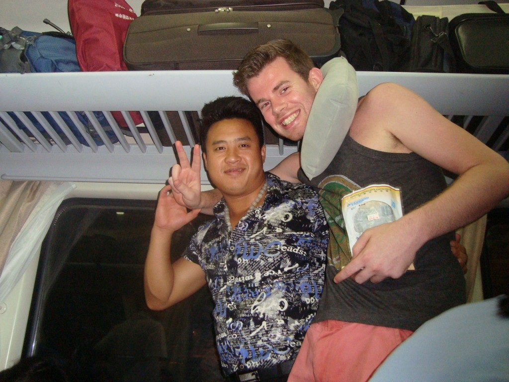 Me and the Chinese guy. I unfortunately forgot his name. Btw, ignore the ugly neck-pillow. ;)
