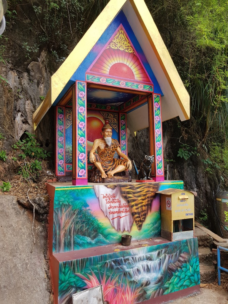 Buddhist shrine at the Tiger Cave Temple