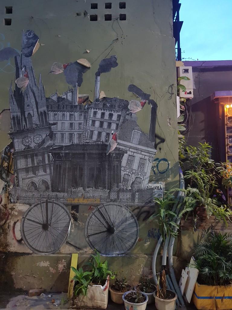 Street art in Hanoi, Vietnam